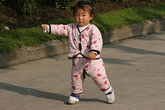 A Chinese baby girl