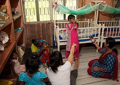 Children at Basundhara orphanage