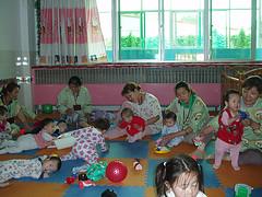 Children in an orphanage